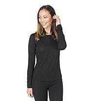 Super.Natural W Base 140 - maglia a maniche lunghe intima - donna, Black