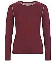 Super.Natural W Base LS 175 - maglietta tecnica a manica lunga - donna, Dark Red