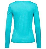 Super.Natural W Base LS 175 - maglietta tecnica a manica lunga - donna, Light Blue