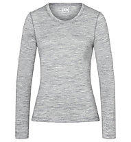 Super.Natural W Base LS 175 - maglietta tecnica a manica lunga - donna, Light Grey