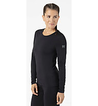 Super.Natural W Base LS 175 - maglietta tecnica a manica lunga - donna, Dark Black