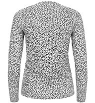 Super.Natural W Base 175 Printed - maglia a maniche lunghe - donna, Grey
