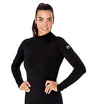 Super.Natural W Base Turtle Neck 175 - Funktionsshirt langarm - Damen, Black