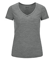 Super.Natural Base V-Neck 140 - maglietta tecnica - donna, Grey