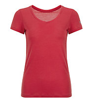 Super.Natural Base V-Neck 140 - maglietta tecnica - donna, Red