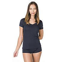 Super.Natural Base V-Neck 140 - maglietta tecnica - donna, Blue