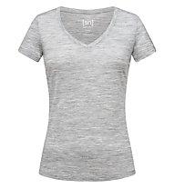Super.Natural Base V-Neck 140 - maglietta tecnica - donna, Light Grey