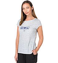 Super.Natural W Digital Graphic 140 - T-shirt - donna, Grey/Light Blue