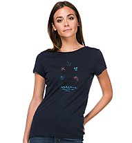 Super.Natural Digital Print - T-shirt - donna, Dark Blue