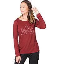 Super.Natural W Graphic 140 - maglia a maniche lunghe - donna, Dark Red