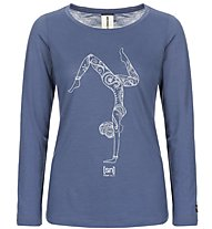 Super.Natural W Graphic LS 140 - Funktionsshirt langarm - Damen, Light Blue