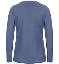 Super.Natural W Graphic 140 - maglia a maniche lunghe - donna, Light Blue