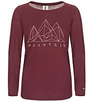 Super.Natural W Graphic 140 - maglia a maniche lunghe - donna, Dark Red