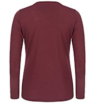 Super.Natural W Graphic LS 140 - Funktionsshirt langarm - Damen, Dark Red