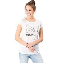 Super.Natural W Graphic Tee 140 Arabeske Logo - T-Shirt - Damen, White
