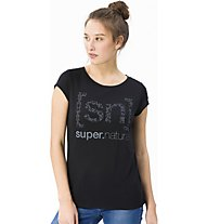 Super.Natural W Graphic Tee 140 Logo - t-shirt - donna, Black