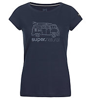 Super.Natural W Graphic Tee 140 Van - t-shirt - donna, Blue