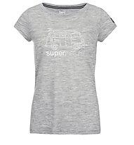 Super.Natural W Graphic Tee 140 Van - T-Shirt - Damen, Grey