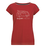 Super.Natural W Graphic Tee 140 Van - t-shirt - donna, Red