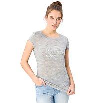 Super.Natural W Graphic Tee 140 Van - t-shirt - donna, Grey