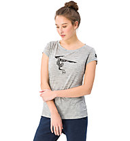 Super.Natural W Graphic Tee 140 Yoga - t-shirt - donna, Grey