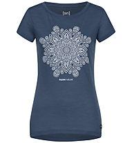 Super.Natural W Mandala - T-shirt - donna, Blue