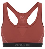Super.Natural Semplice 260 (Cup B) - reggiseno sportivo - donna, Orange
