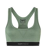 Super.Natural Semplice 260 (Cup B) - reggiseno sportivo - donna, Green