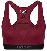 Super.Natural Semplice 260 (Cup B) - reggiseno sportivo - donna, Dark Red