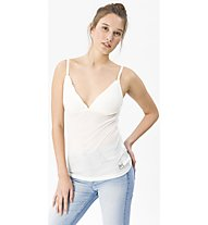 Super.Natural W Vivien Rib Top 165 - Funktionsunterhemd - Damen, White