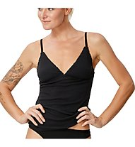 Super.Natural W Vivien Rib Top 165 - top intimo - donna, Black