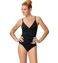 Super.Natural W Vivien Rib Top 165 - Funktionsunterhemd - Damen, Black