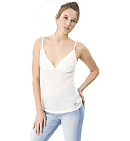 Super.Natural W Vivien Rib Top 165 - top intimo - donna, White