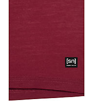 Super.Natural W Yoga Ashram - maglia merino - donna, Red