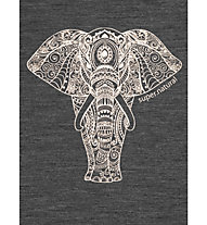 Super.Natural W Yoga Power Elephant - T-Shirt - Damen, Grey