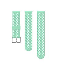 Suunto 20mm Athletic Silicon Strap - Armband Sportuhr, Turquoise/Grey