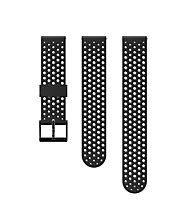 Suunto 20mm Athletic Silicon Strap - Armband Sportuhr, Black/Black