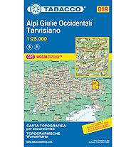 Tabacco N° 019 Alpi Giulie Occidentali - Tarvisiano (1:25.000), 1:25.000