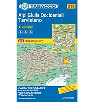 Tabacco Carta N° 019 Alpi Giulie Occidentali - Tarvisiano (1:25.000), 1:25.000