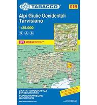 Tabacco Karte N° 019 Alpi Giulie Occidentali - Tarvisiano (1:25.000), 1:25.000