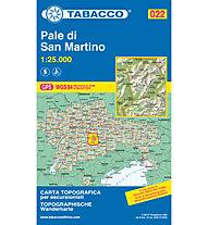 Tabacco Carta N.022 Pale di San Martino - 1:25.000, 1:25.000