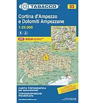 Tabacco N° 03 Cortina d'Ampezzo e Dolomiti Ampezzane (1:25.000), 1:25.000