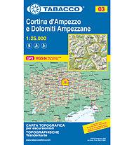 Tabacco Carta N.03 Cortina d'Ampezzo e Dolomiti Ampezzane - 1:25.000, 1:25.000