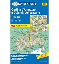 Tabacco Karte N.03 Cortina d'Ampezzo e Dolomiti Ampezzane - 1:25.000, 1:25.000