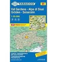Tabacco Carta N.05 Val Gardena-Gröden/Alpe di Siusi-Seiseralm - 1:25.000, 1:25.000