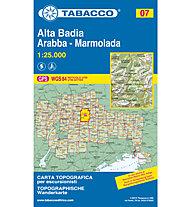 Tabacco N° 07 Alta Badia - Arabba - Marmolada (1:25.000), 1:25.000