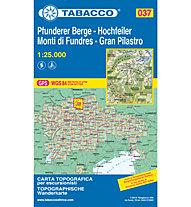 Tabacco Carta N.037 Gran Pilastro, Monti di Fundres - 1:25.000, 1:25.000