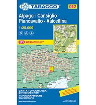 Tabacco Karte N. 012: Alpago - Cansiglio - Piancavallo - Valcellina (1:25.000), 1:25.000