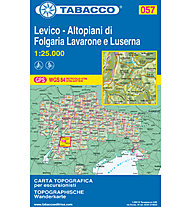 Tabacco N. 057 Levico-Altipiano di Folgaria, Lavarone e Luserna (1:25000), 1:25.000