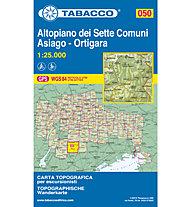 Tabacco N° 050 Altipiano dei Sette Comuni, Asiago, Ortigara (1:25.000), 1:25.000